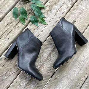 Sam Edelman Black Leather Cambell Booties Boots